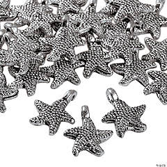 Dark Silvertone Starfish Charms