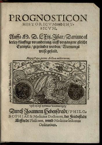 Prognosticon historicum und Physicum