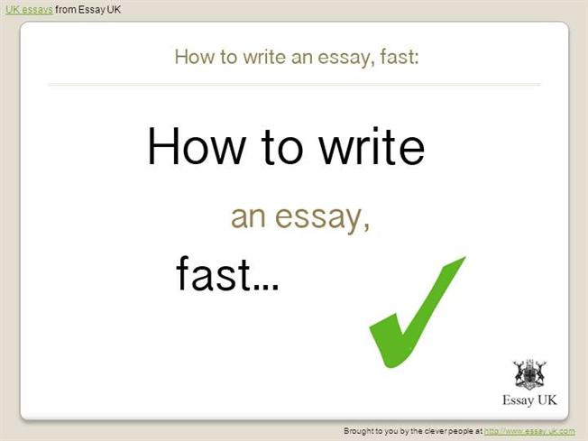 how to write a essay fast
