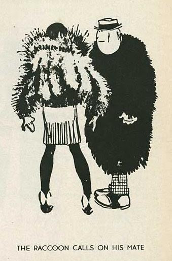 John Held Jr., The Racoon Calls on His Mate, 1920s