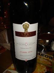 Bottle of Georgian Wine