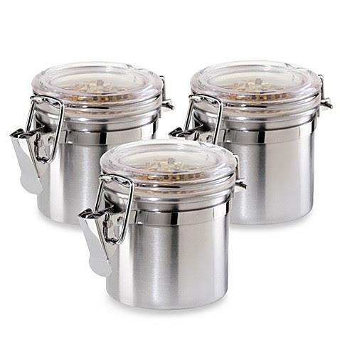 Oggi  Stainless Steel  Airtight Mini  Canister Set  of 3