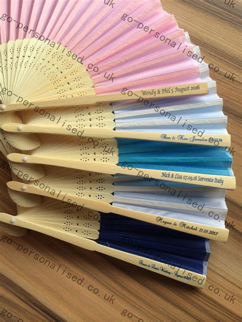 personalized wedding silk fans wholesale printed free