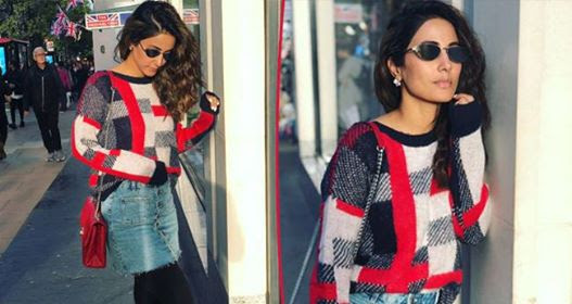 Hina Khan raises temperatures by sporting Denims as she is in London
