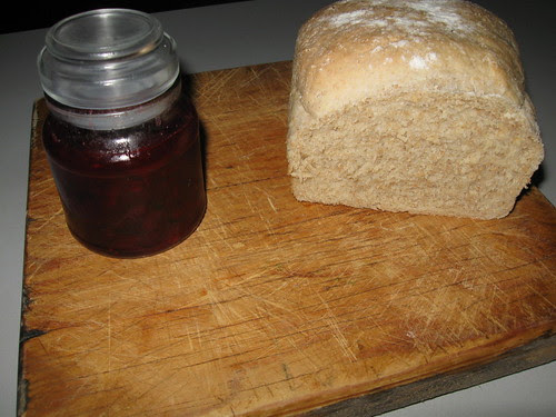 Roselle jam and hand made bread