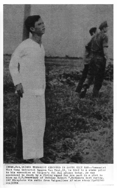 1964 Viet Cong Terrorist Tied to Stake for Execution