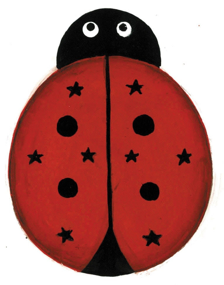 Rustic Home Decor Wreaths Pierced Tin Painted Metal Ladybug Ornament By Somethingspecialcraf