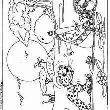 Dibujos Para Colorear El Niño Y El Leopardo Eshellokidscom