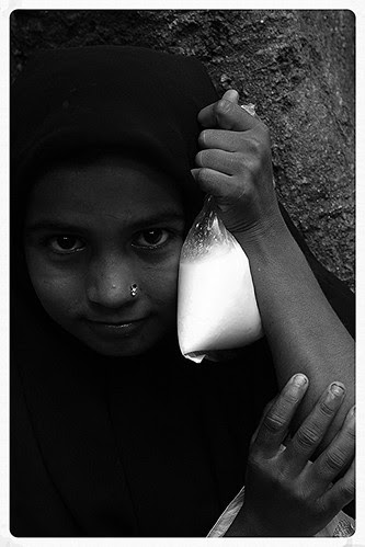 The Muslim Beggar Girl by firoze shakir photographerno1