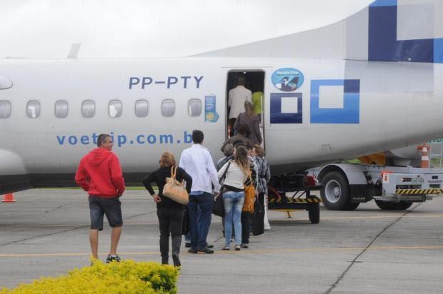 Azul faz voo inaugural em Pelotas Janine Tomberg/Divulgação