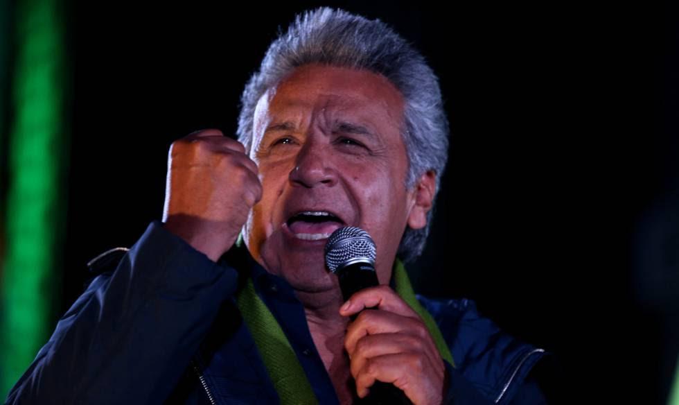El candidato oficialista, Lenín Moreno.
