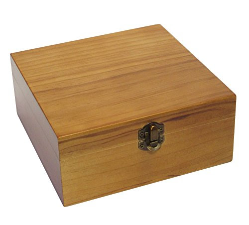 Essential Oil Carrying Case Wooden Box Holds 25 Bottles 5-15ml Pecan Stain