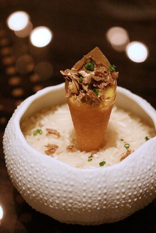 Quince And Foie Gras Parfait Cone