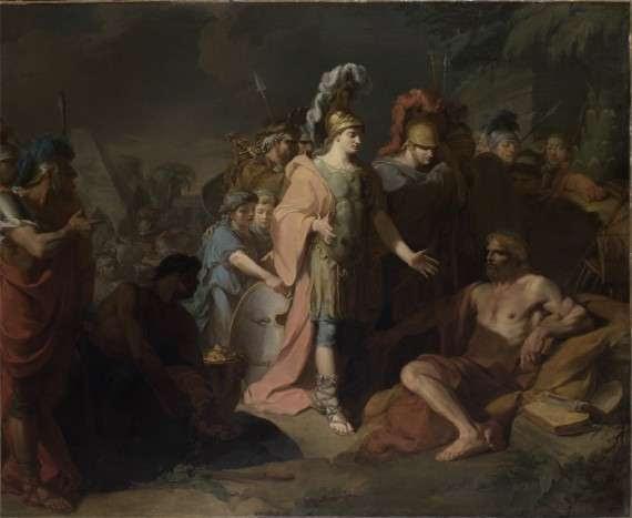 Ο Μέγας Αλέξανδρος επισκέπτεται το Διογένη.