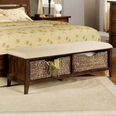 Wildon Home ® Brighton Microfiber Bedroom Storage Bench | Wayfair