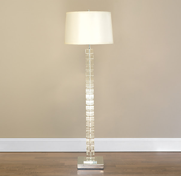 Stacked Crystal Block Floor Lamp | Crystal | Restoration Hardware