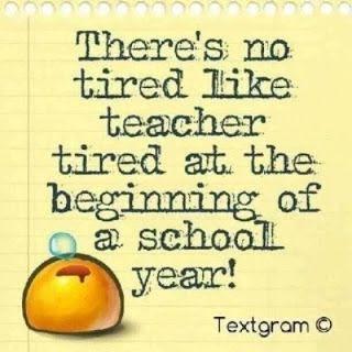 Ain't no tired like teacher tired...