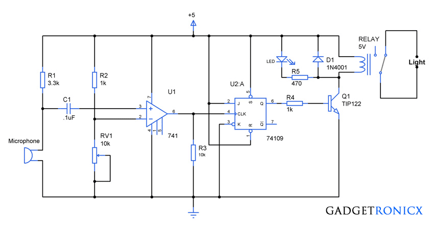 street light wiring diagram schematic and wiring diagram clap activated light circuit  clap activated light circuit