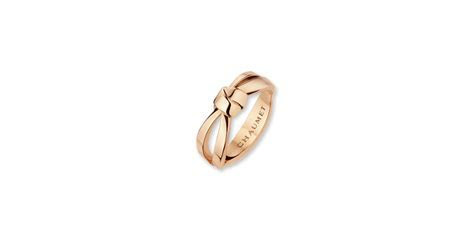 Liens Séduction ring in pink gold set with brilliant cut