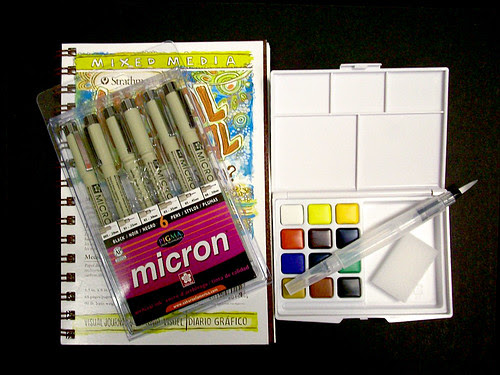 Dr Sketchy's approved drawrrring (and watercoloring) Kit