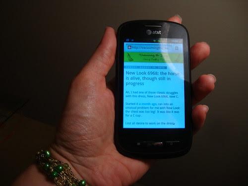 my blog on my new phone