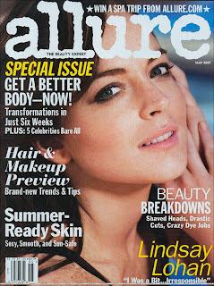 Lindsay Lohan does Allure Magazine
