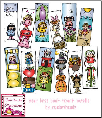 Monthly book-mark bundle