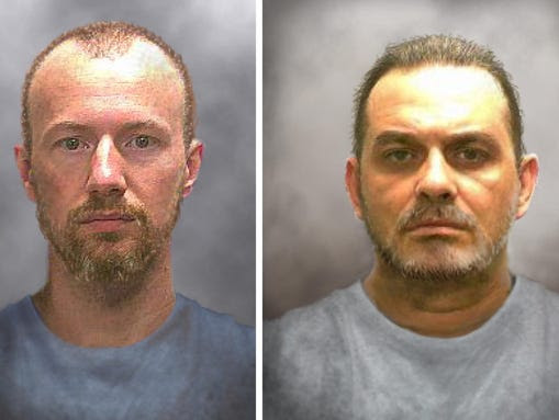 Progression images show what escaped inmates David