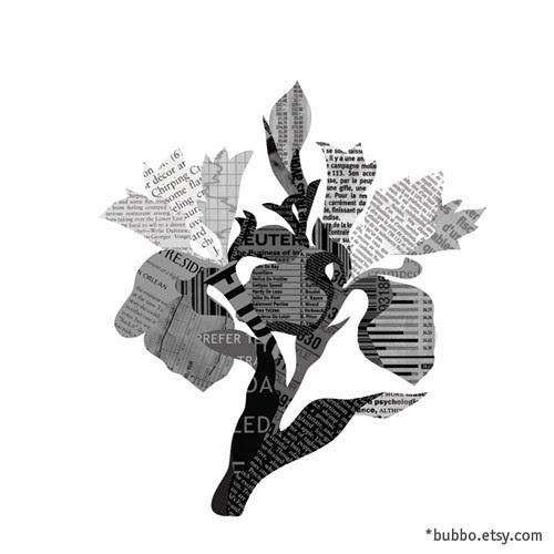 newspaperflowersbubboetsy