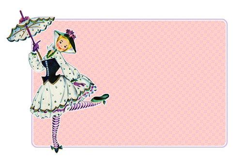 freebie Vintage Big Tag - Pretty Lady