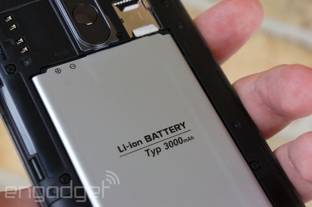 The lithium-ion battery in an LG G3
