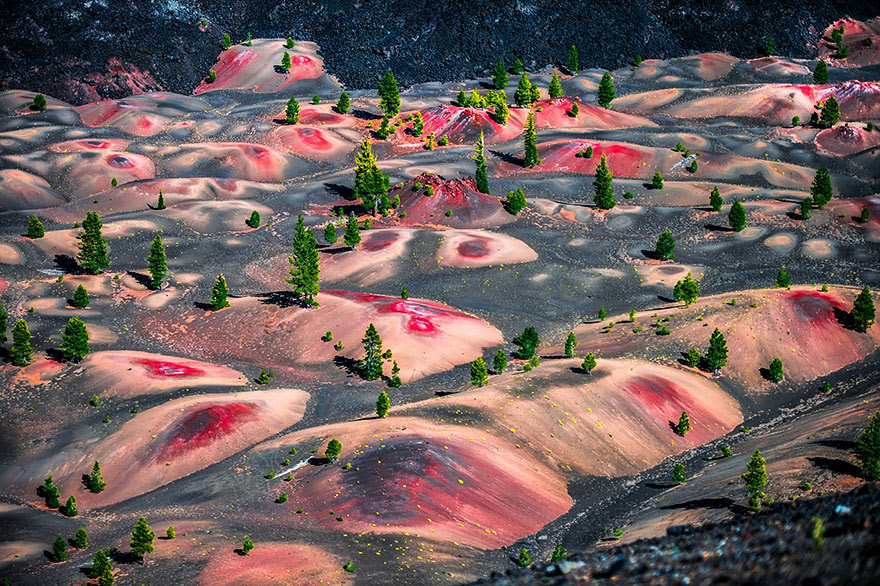 Painted Dunes, Lassen Volcanic National Park, Usa