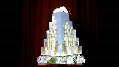 Projection mapping to a wedding cake   YouTube