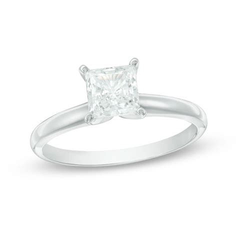 3/4 CT. Princess Cut Diamond Solitaire Engagement Ring in