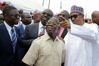 President Buhari Fumes Over Oshiomhole, APC Chairman's Comment