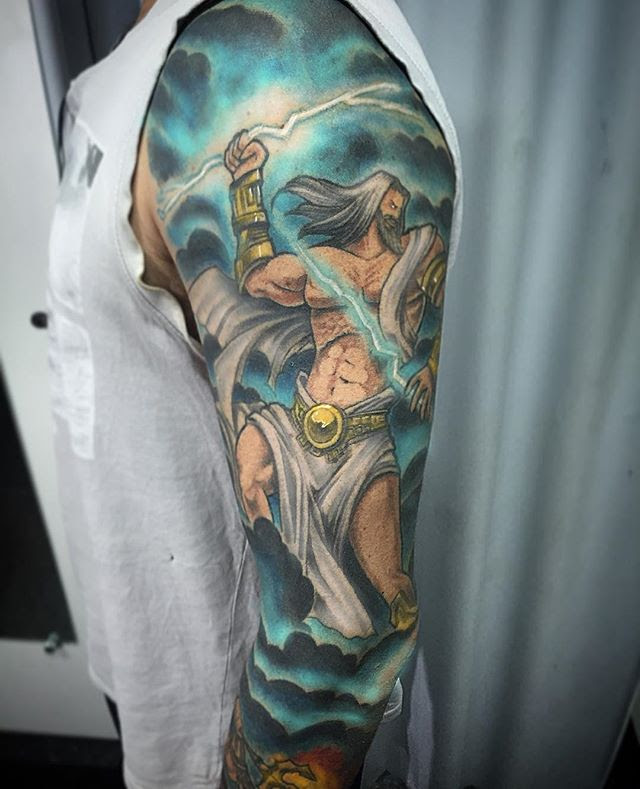 Zeus Tattoos Designs, Ideas and Meaning | Tattoos For You