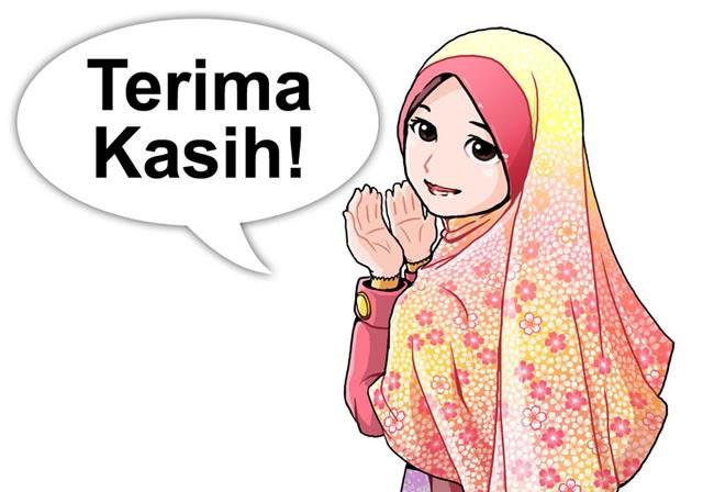 49 Info Terbaru Gambar Kartun Muslimah Ucapan Terima Kasih