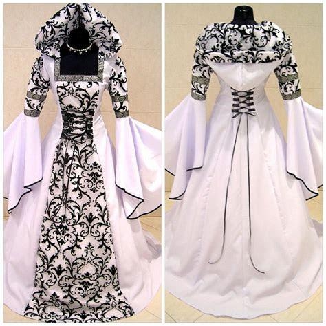 medieval victorian renaissance gothic wedding dress