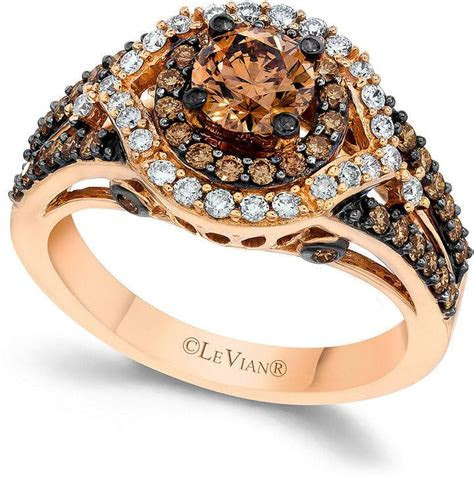 Le Vian Chocolate And White Diamond Engagement Ring In 14k