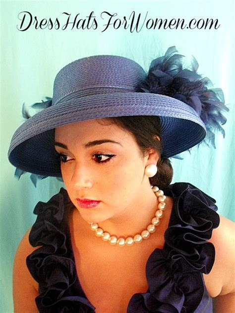 Royal Blue Custom Dress Kentucky Derby Hat With Your