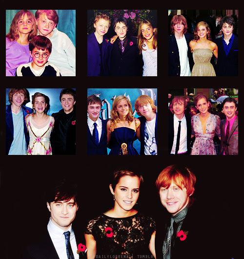 Daniel Radcliffe, Emma Watson & Rupert Grint. The Golden Trio.
