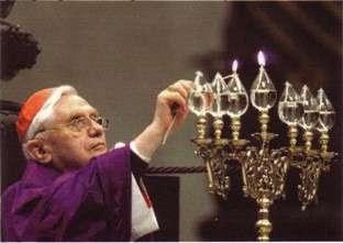 Benedicto XVI menorá judía