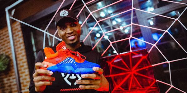 09444ca17f9 Donovan Mitchell unveils new Adidas signature sneaker. The Jazz sophomore  ...