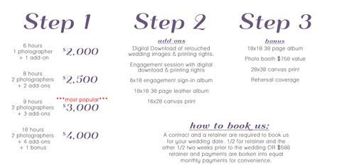Affordable Nashville Wedding Photography Pricing