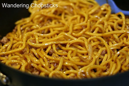 Shanghai Noodles with Ground Pork, Spinach, and Onions 7