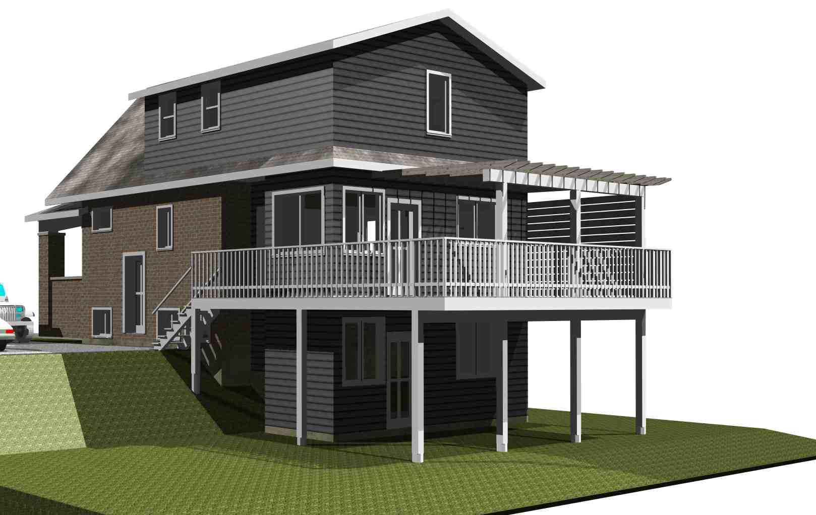 Landscaping Ideas Backyard Walkout Basement
