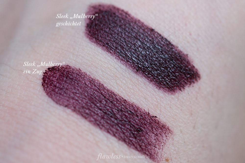 Sleek True Colour Lipstick Mulberry Swatch