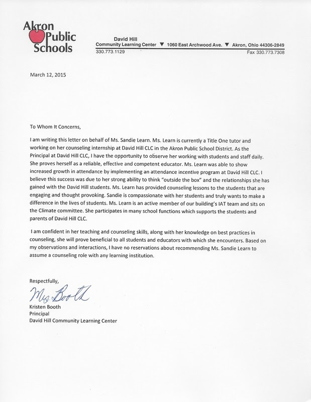 Recommendation Letters - Sandra Learn - Licensed ...