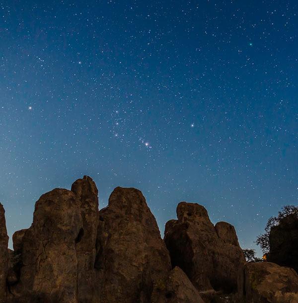 Orion and Comet LoveJoy, Jan. 5, 2015