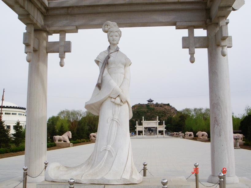 位于呼和浩特的王昭君墓 Tumba de Wang Zhaojun en la ciudad de Hohhot